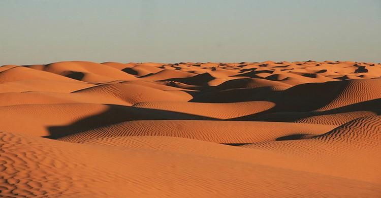 Dunas del desierto en Túnez
