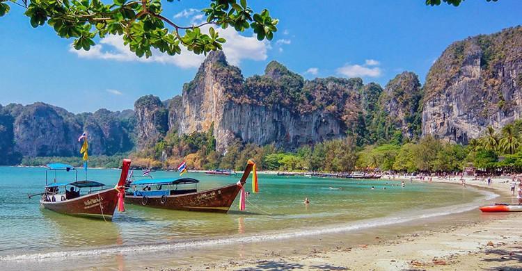 Vistas de una playa en Tailandia