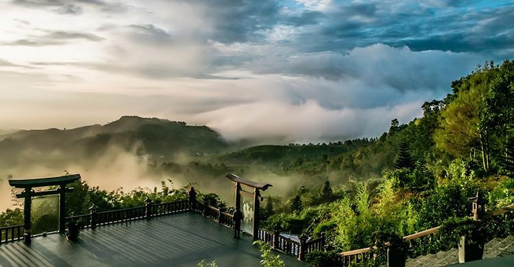 Vistas de un valle en Vietnam