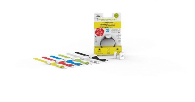 Diseño minimalista de pulseras Radarcan antimosquitos