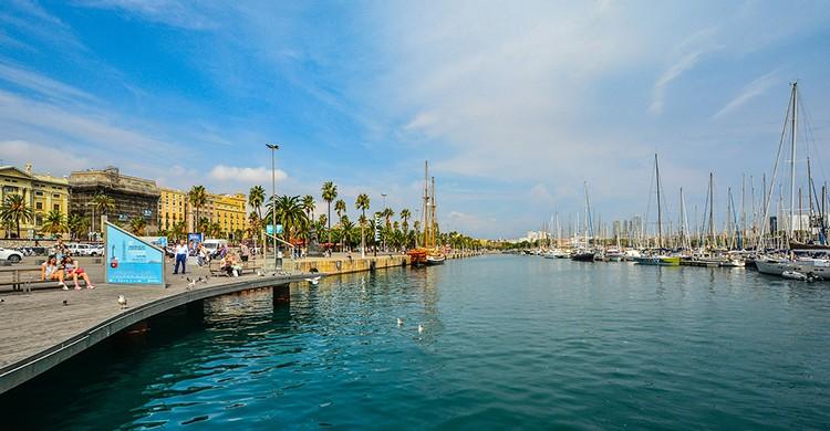 Vistas del puerto de Barcelona