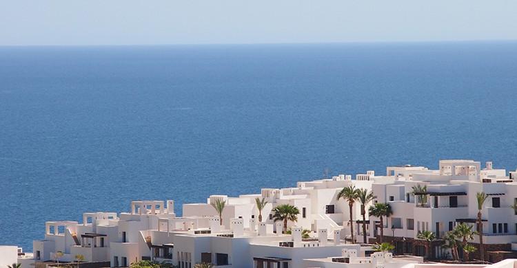 Vistas de Mojácar y del mar