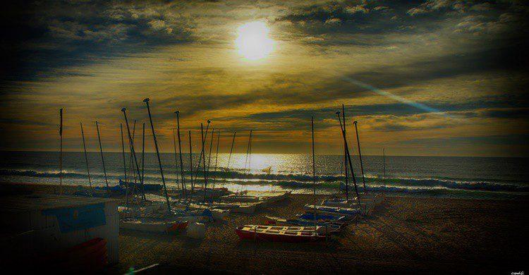 Playa de Montgat. Candi... (Flickr)