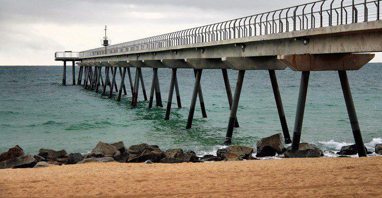 Playa de Pont de Petroli. Jorge Franganillo (Flickr)