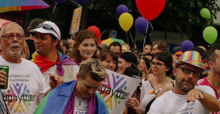 Manifestación por la conquista del matrimonio gay en Suiza (Fuente: Milo Peaceful / Flickr)