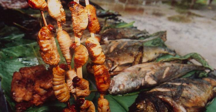 Pinchos de suri peruano