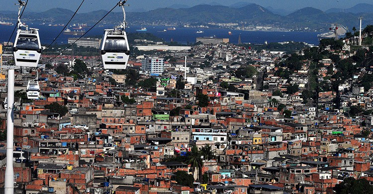 Vistas del Complejo del Alemão, Río de Janeiro, Brasil
