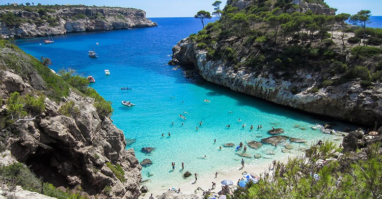 Una playa en Mallorca
