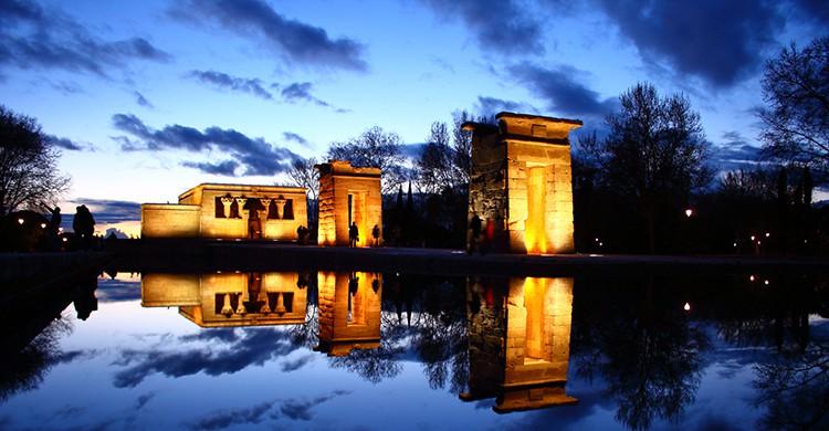 Vistas del Templo de Debod, Madrid