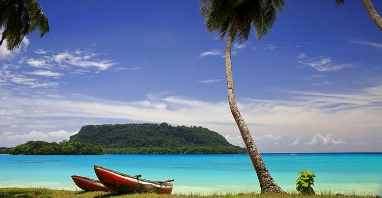 Paisaje idílico en Vanuatu