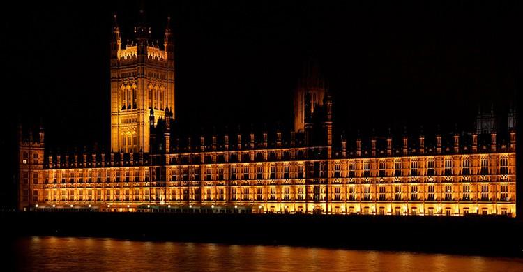 Palacio de Westminster de noche