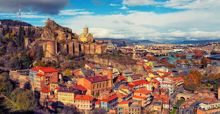 Vistas de Tbilisi, Georgia