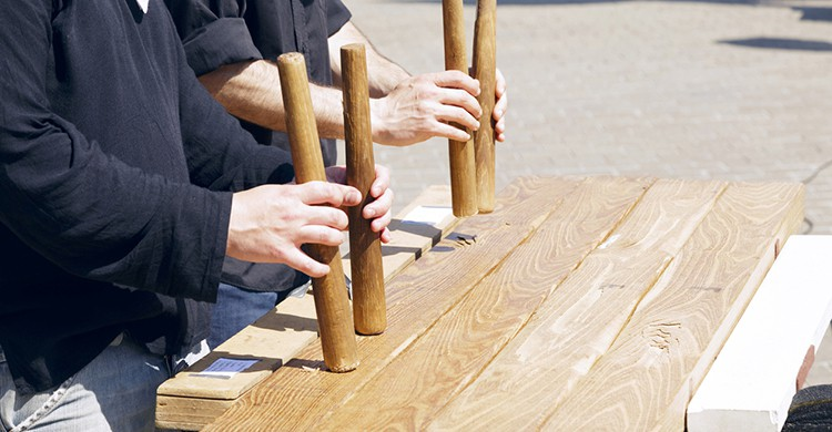 Txalaparta, el instrumento de percusión tradicional del País Vasco.