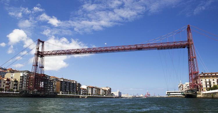 Vistas del puente colgante de Vizcaya