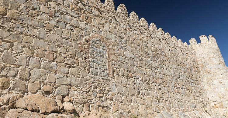 Pared lateral de la muralla de Ávila