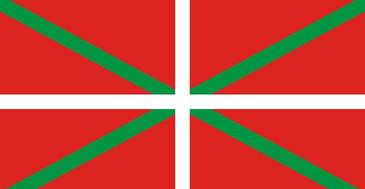 La bandera del País Vasco