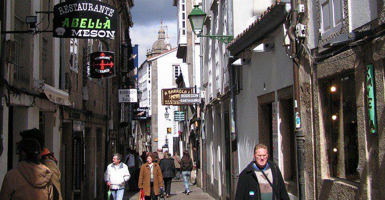 La Rua do Franco en Santiago de Compostela (Fuente: Manel Zaera / Flickr)