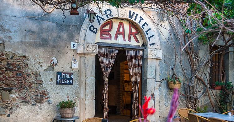 El Bar Vitelli en Savoca, Sicilia