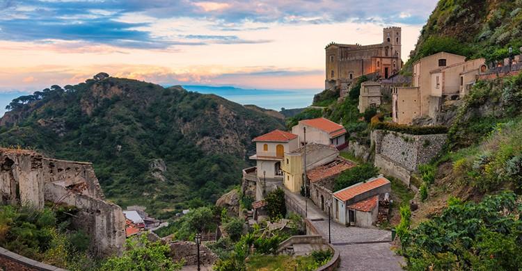 Vistas de Corleone, en Sicilia