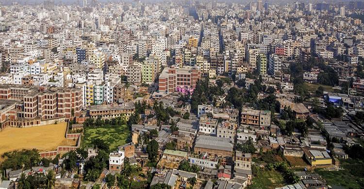 Vistas de Dacca, Bangladesh