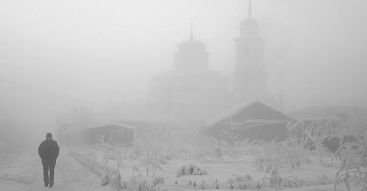 Yakutsk bajo la nieve