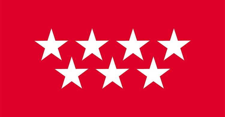 La bandera de la Comunidad de Madrid