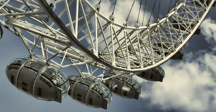 Vistas de las cabinas del London Eye