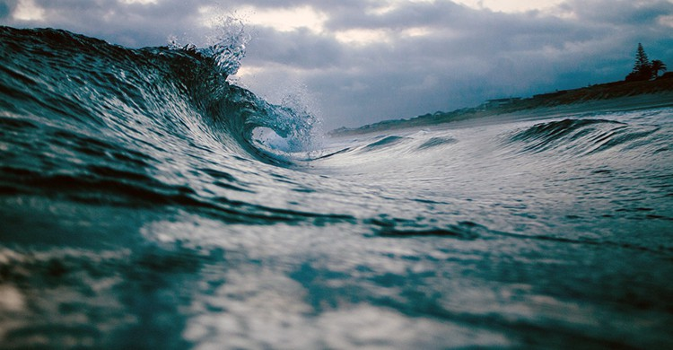 Olas en el mar