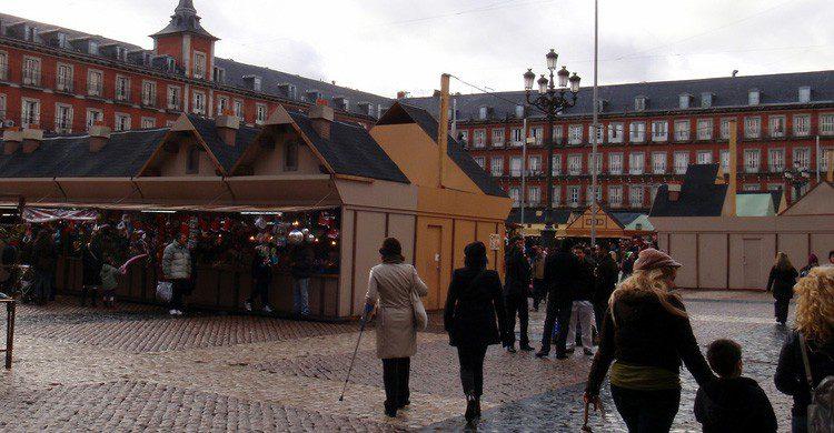 Mercado de la Plaza Mayor de Madrid (Fuente: Daniel Lobo / Flickr)