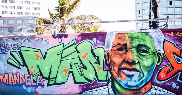 Graffiti de Mandela en Durban
