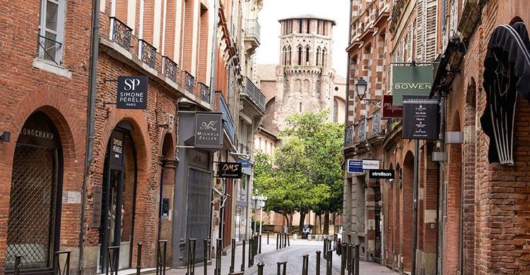 Una calle en el centro de Tolouse
