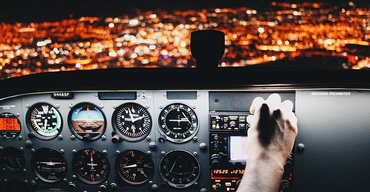 Una cabina de vuelo