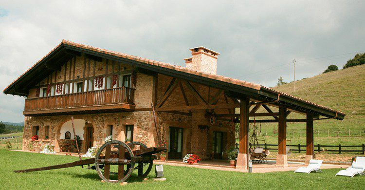 El alojamiento rural Lezamako Etxe en Bizkaia (Fuente: nekatur.net)