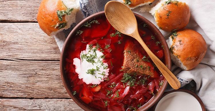 La típica sopa borsch