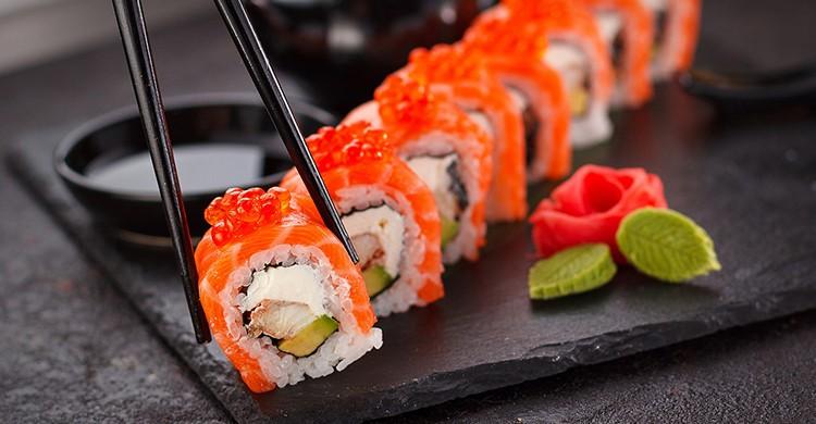 Porción de sushi