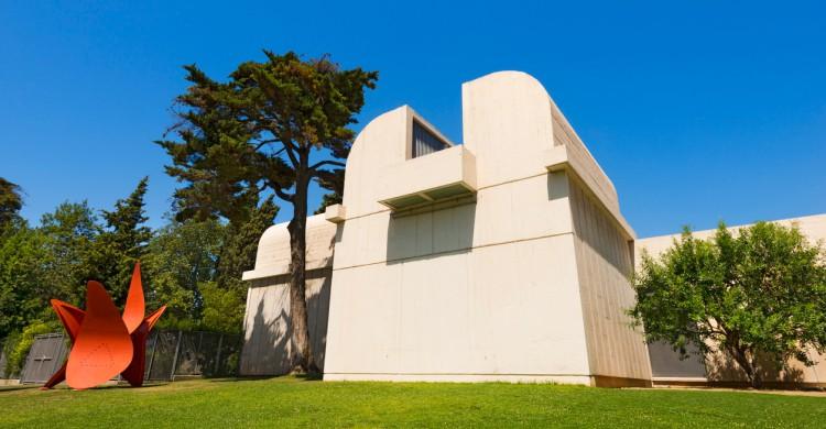 Fachada de la Fundación Joan Miró