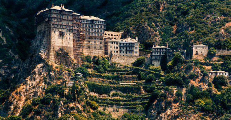 Un monasterio en el Monte Athos
