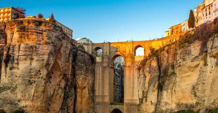 Vista del pueblo de Ronda, en Málaga (Fuente: iStock)