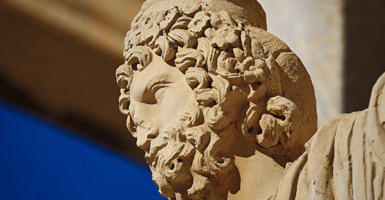 Detalle del teatro romano de Mérida