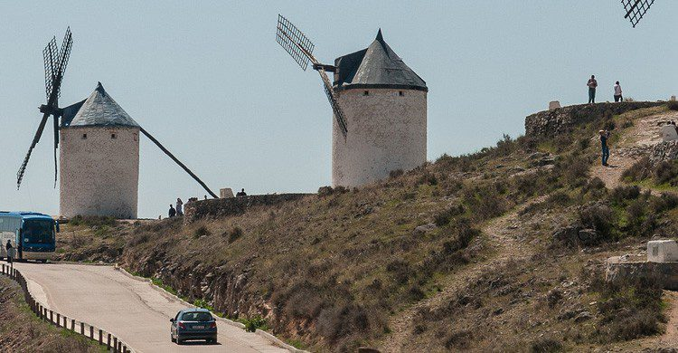 Los molinos de Mota del Cuervo, Cuenca (Fuente: Anna Michal / Flickr)