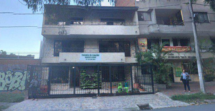 Vivienda del barrio de los Olivos donde asaltarían a Pablo Escobar (Fuente: youtube)