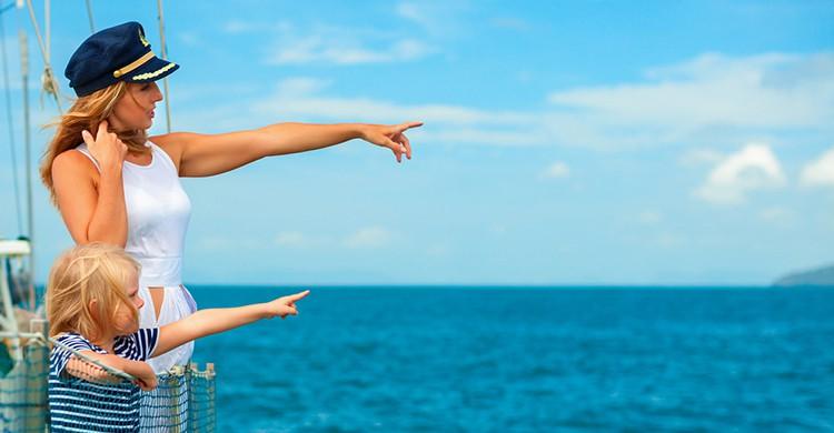 Dos turistas en un crucero