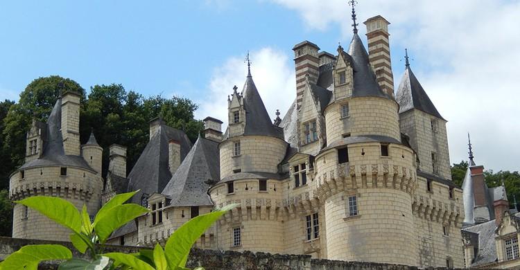 Vistas del Castillo de Ussé, Francia