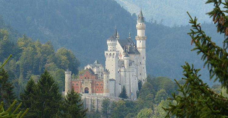 Vistas del castillo de Neuschwanstein, en Alemania
