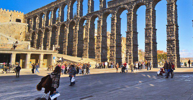 El Acueducto de Segovia en Castilla y León (Fuente: Tomas Fano / Flickr)