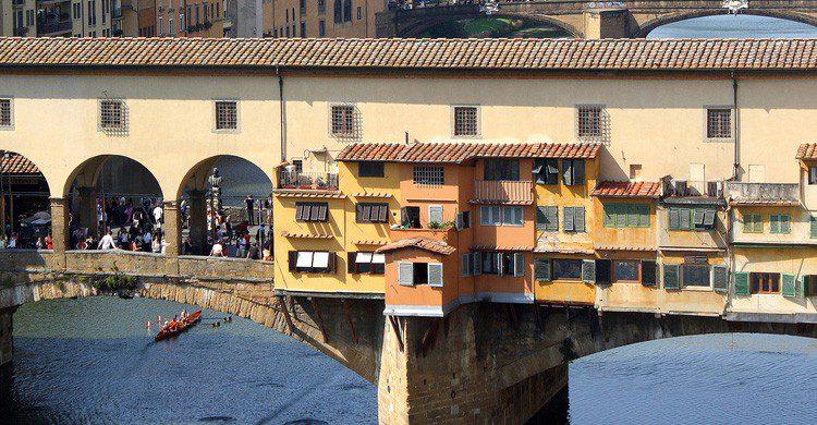 El famoso puente de Florencia en Italia (Fuente: Javier Delgado / Flickr)