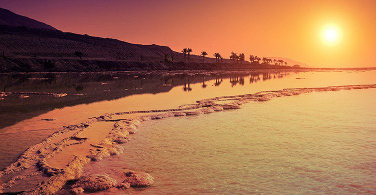 Atardecer en el Mar Muerto