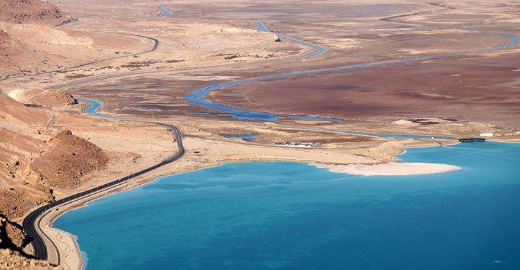Vistas aéreas del Mar Muerto
