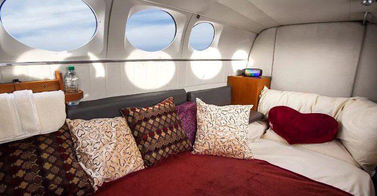 El momento del 'postre' en la avioneta privada de Love Cloud (Fuente: lovecloudvegas.com)