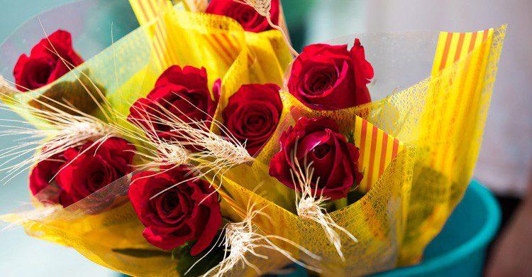 Flores en el Día de Sant Jordi (Fuente: Ayuntament de Sabadell / Flickr)
